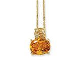 Cheryl M Gold Plated Sterling Silver 100-facet Yellow CZ 18in Necklace