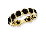 Cheryl M™ Gold Plated Sterling Silver Simulated Onyx Ring