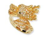 Cheryl M™ Gold Plated Sterling Silver CZ Dragon Ring