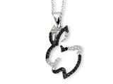 Cheryl M™ Sterling Silver CZ Bunny 18in Necklace style: QCM601