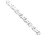 16 Inch Sterling Silver 3mm bright-cut Rope Chain Necklace style: QDC070