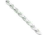18 Inch Sterling Silver 4.25mm Diamond-cut Rope Chain style: QDC090