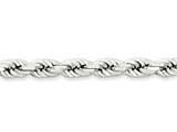 20 Inch Sterling Silver 6.25mm bright-cut Polished 8 Sides Rope Chain style: QDC140