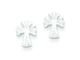 Sterling Silver Cross Mini Earrings style: QE103
