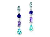 Sterling Silver Amethyst, Blue Topaz and Iolite Dangle Earrings style: QE10975X