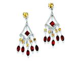 Sterling Silver Garnet and Citrine Dangle Earrings style: QE10981X