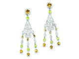 Sterling Silver Citrine and Peridot Dangle Earrings style: QE10983X