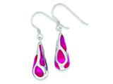 Sterling Silver Pink Resin Raindrop Earrings