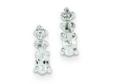 Sterling Silver Cubic Zirconia Post Earrings style: QE1675