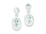 Sterling Silver Oval Cubic Zirconia Earrings style: QE1718