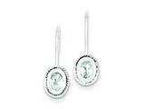 Sterling Silver Oval Cubic Zirconia Earrings style: QE1750