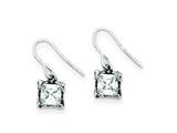 Sterling Silver Antiqued Cubic Zirconia Earrings style: QE1753