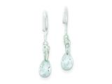 Sterling Silver Teardrop Cubic Zirconia Earrings style: QE1754