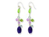 Sterling Silver Amethyst/lavender Quartz/peridot/blue Topaz Earrings style: QE2354