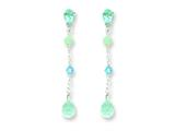 Sterling Silver Blue Topaz/amazonite/blue Crystal Earrings style: QE2521