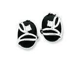 Sterling Silver Onyx And Cubic Zirconia Earrings style: QE2730