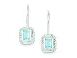 Sterling Silver Blue Topaz Earrings style: QE280