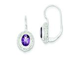 Sterling Silver Amethyst Earrings style: QE281