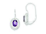 Sterling Silver Amethyst Earrings style: QE281