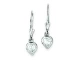 Sterling Silver Cubic Zirconia Leverback Earrings style: QE290