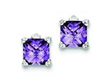 Sterling Silver Purple Cubic Zirconia Earrings style: QE2940