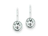Sterling Silver Cubic Zirconia Leverback Earrings style: QE297