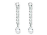 Sterling Silver Cubic Zirconia Earrings style: QE2985