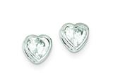 Sterling Silver Cubic Zirconia Heart Post Earrings style: QE300