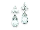 Sterling Silver Cubic Zirconia Dangle Earrings style: QE3095
