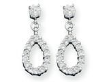 Sterling Silver Fancy Cubic Zirconia Earrings style: QE3219