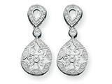 Sterling Silver Cubic Zirconia Antique Style Earrings style: QE3224