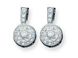 Sterling Silver Cubic Zirconia Antique Style Earrings style: QE3230