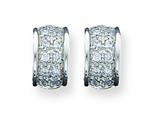Sterling Silver Cubic Zirconia Earrings style: QE3232