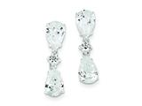 Sterling Silver Dangling Cubic Zirconia Earrings style: QE3276
