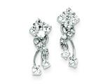 Sterling Silver Cubic Zirconia Earrings style: QE3279