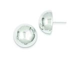 Sterling Silver 18mm Half Ball Earrings style: QE3495