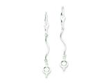 Sterling Silver Bead Leverback Earrings style: QE3910