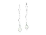 Sterling Silver Laser Cut Bead Leverback Earrings style: QE3911