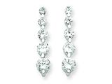 Sterling Silver Cubic Zirconia Journey Earrings style: QE4308