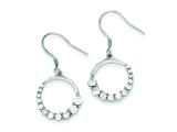 Sterling Silver Cubic Zirconia Journey Earrings style: QE4310