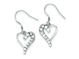 Sterling Silver Cubic Zirconia Journey Earrings style: QE4311