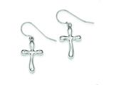 Sterling Silver Cross Earrings style: QE4775