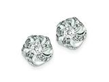 Sterling Silver Cubic Zirconia Post Earrings style: QE4936