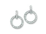 Sterling Silver Cubic Zirconia Circle Post Earrings style: QE4985