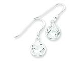 Sterling Silver Round Clear Cubic Zirconia Earrings style: QE5000