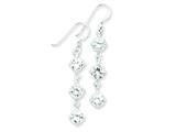 Sterling Silver Clear Cubic Zirconia Dangle Earrings style: QE5006