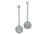 Sterling Silver Cubic Zirconia Post Earrings style: QE5020