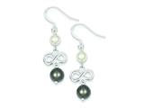 Sterling Silver Freshwater Cultured Pearl Infinity Earrings style: QE5083
