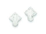 Sterling Silver Cross Mini Earrings style: QE510