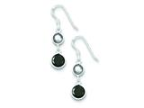 Sterling Silver Smokey and Black Cubic Zirconia Dangle Earrings style: QE5286